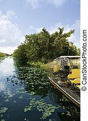 Airboat in Everglades Florida Big Cypress