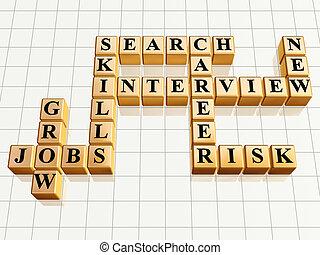 crossword 4 golden - 3d golden cubes like crossword - jobs,...