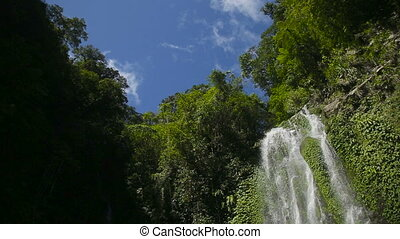 Beautiful tropical waterfall. - Waterfall in the...
