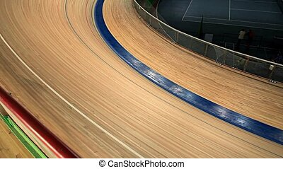 Bicycle Race blurred motion - Bicycle Race competition...