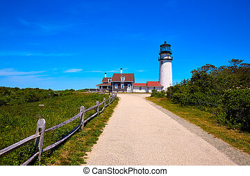 Cape Cod Truro lighthouse Massachusetts US - Cape Cod Truro...