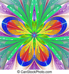 Beautiful multicolored fractal flower or butterfly in...