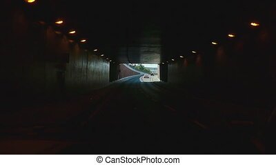 Road tunnel near Frankfurt Airport - Take the road tunnel...