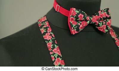 Colored bow-tie on a mannequin