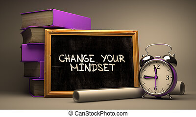 Change Your Mindset Concept Hand Drawn on Chalkboard.