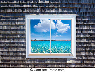 Cape Cod window photomount Massachusetts USA