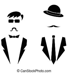 Men Icons Isolated