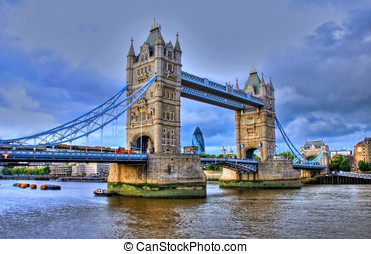 The Tower Bridge In London - The Tower Bridge in London with...
