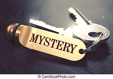 Keys with Word Mystery on Golden Label - Keys with Word...