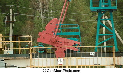 Oil Industry Pumpjack in action - Oil Industry Pump jacks in...