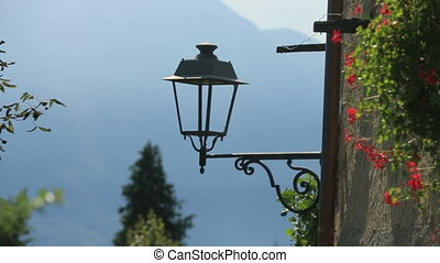 Old Street Lamp in Como Italy