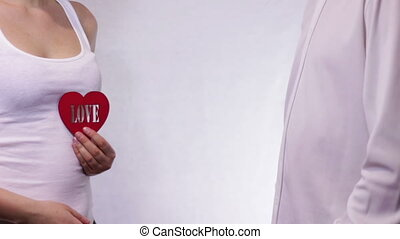 Man Rejects the love of a Girl - Man gives a red love heart...
