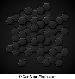 Carbon technology vector abstract background