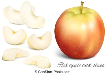 Apple and apple slices