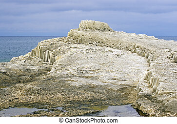 Freakish rock on island Kunashir - Freakish rock on cape...