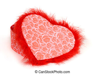 Heart-shaped Fancy Box - Lovely heart-shaped red fancy box...
