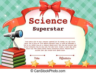 Certificate for science subject