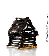 Burnt Down House From Matches