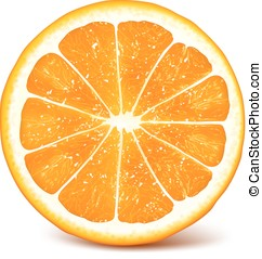 Fresh ripe orange - Vector illustration of fresh ripe...