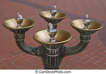Drinking Water Fountain - Antique bronze drinking water...