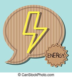 Green energy and ecology graphic design, vector illustration...