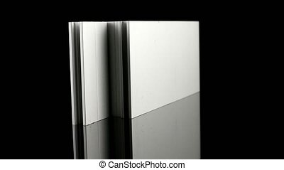 Aluminium profile sample isolated on black background.