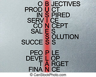 word about business. - Words of business plan for success.