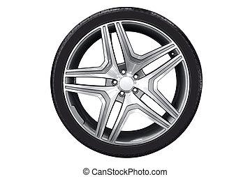 car wheel with aluminu rim