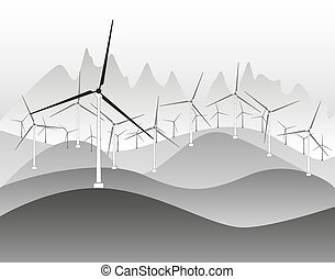 Wind electricity generators and windmills