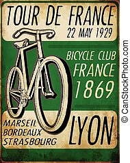 illustration sketch bicycle tour de france poster vintage...
