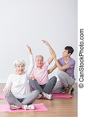 Seniors on fitness