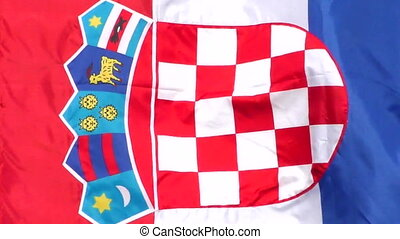 Croatian flag waving in the wind, full hd video
