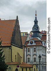 Old New Synagogue, Prague - view of Old New Synagogue and...