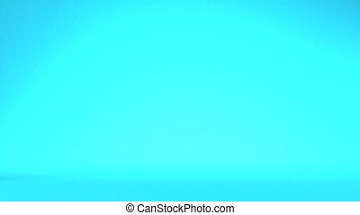 Display Mannequins On Blue Background3D render Animation