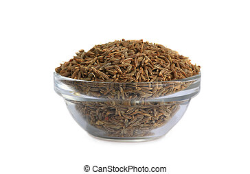 cumin isolated on white background