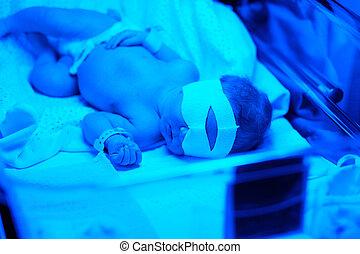 recién nacido, bebé, teniendo, foto, theraphy,...