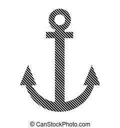 Anchor sign on white.