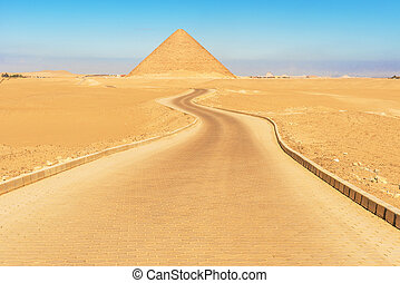 Red pyramid in Dahshur, Egypt - view at Snofru's red pyramid...