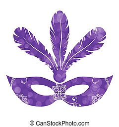 Mardi Gras carnival background with masquerade mask...