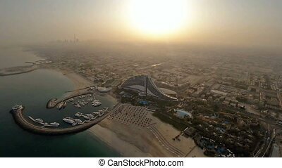 Jumeirah Beach near Burj Al Arab hotel in Dubai, UAE....