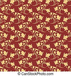 Seamless floral tiling pattern