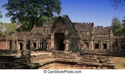 Preah Khan it is translated as A sacred sword Trees and...