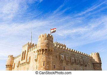 Qaitbay, cidadela, em, Alexandria, Egito,
