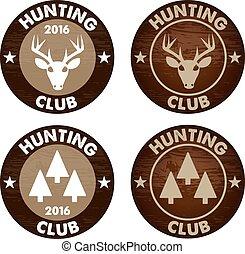 Hunting club emblem vector