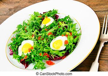 Salad Mix Batavian, Frise, Radicchio, Chicory, Dietary Mel...