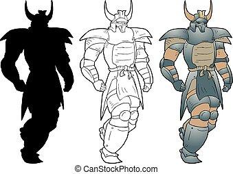 shogun walking illustration - Creative design of shogun...
