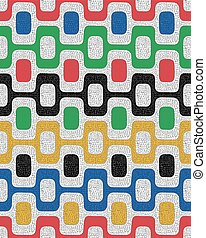 Colorful seamless pattern, mosaic background - Colorful...