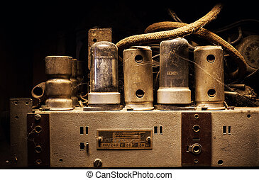 Old Dusty Electric Device Interior
