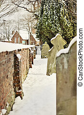 cemetary - Snow in Cottingham East Yorkshire February