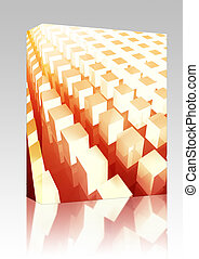 Cubes grid background box package - Software package box...